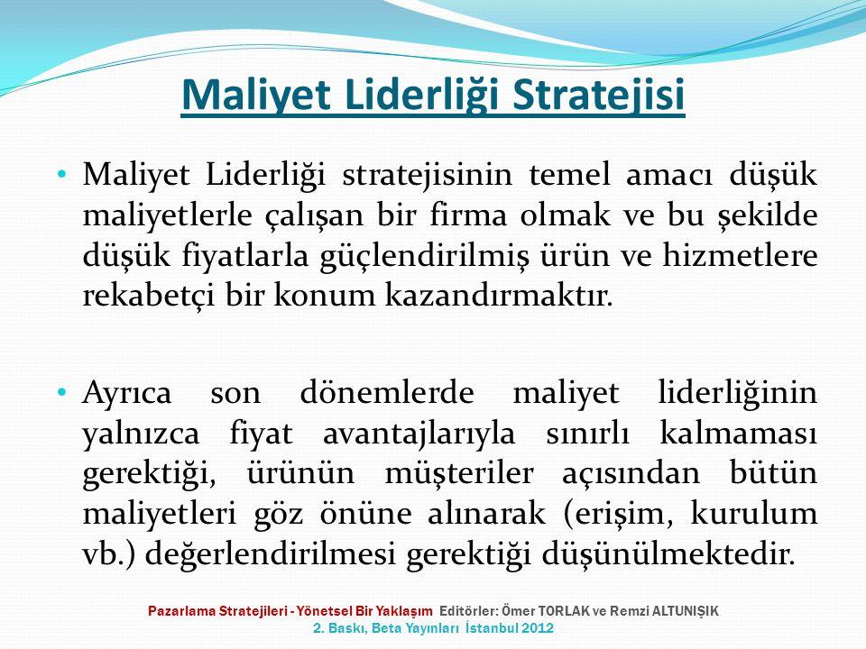 Maliyet Liderliği Stratejisi