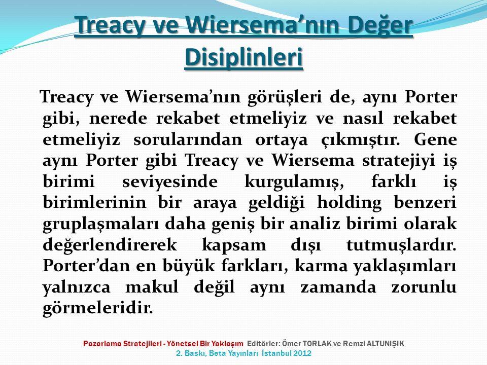 Treacy ve Wiersema'nın Değer Disiplinleri