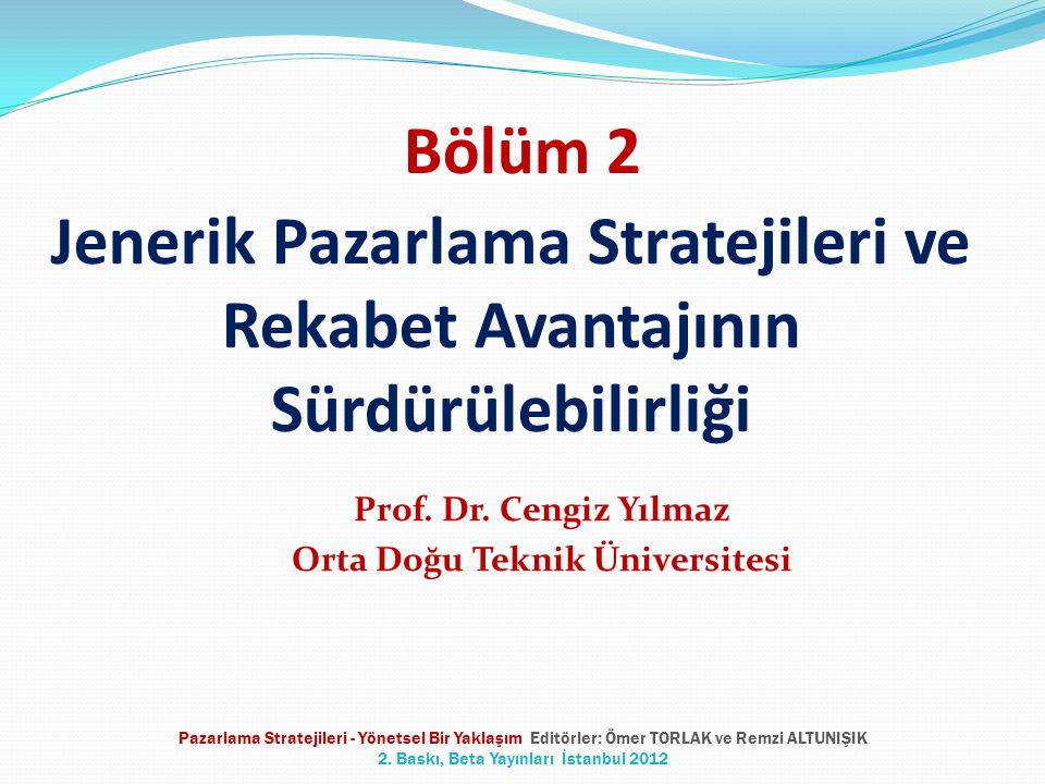 Prof. Dr. Cengiz Yılmaz Orta Doğu Teknik Üniversitesi