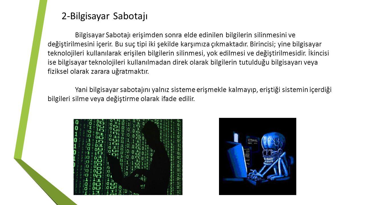 2-Bilgisayar Sabotajı