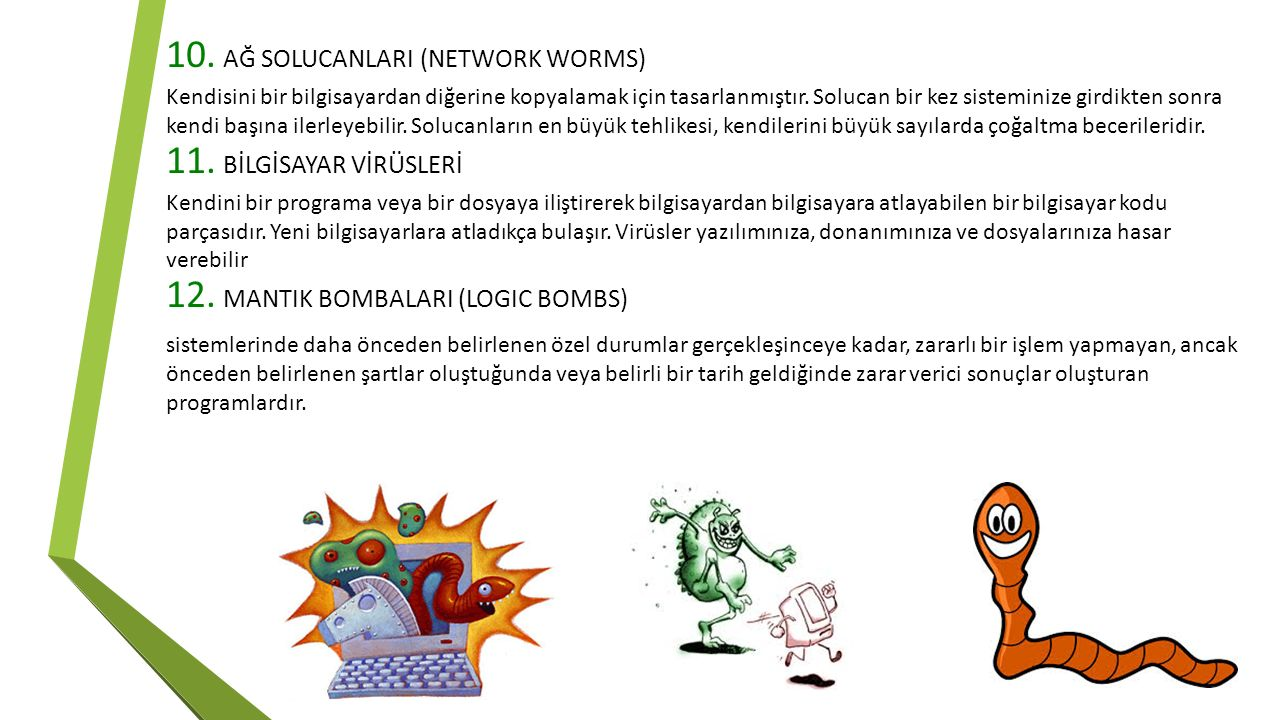 AĞ SOLUCANLARI (NETWORK WORMS)