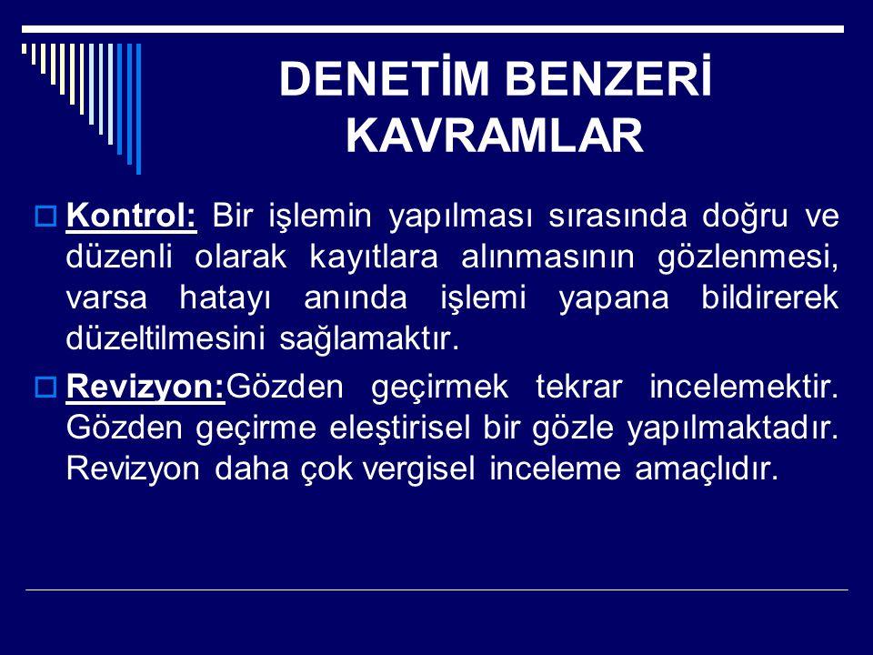 DENETİM BENZERİ KAVRAMLAR