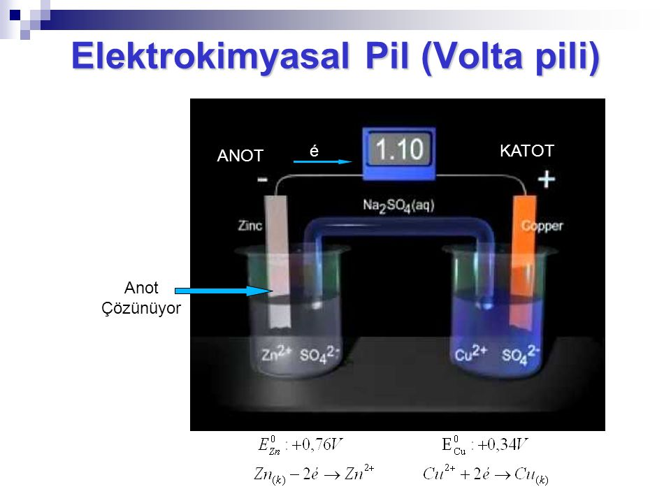 Elektrokimyasal Pil (Volta pili)