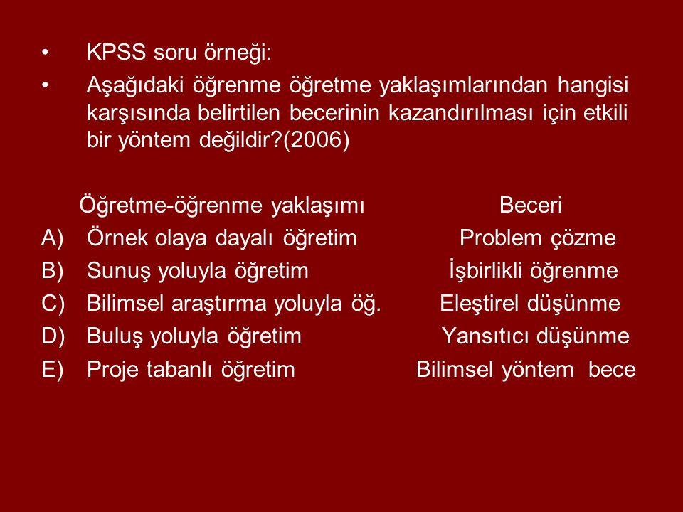 KPSS soru örneği: