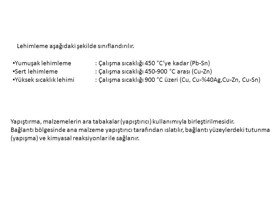 Lehimleme aşağıdaki şekilde sınıflandırılır.