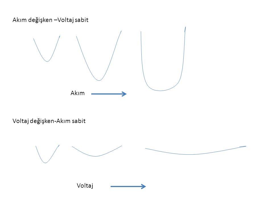 Akım değişken –Voltaj sabit