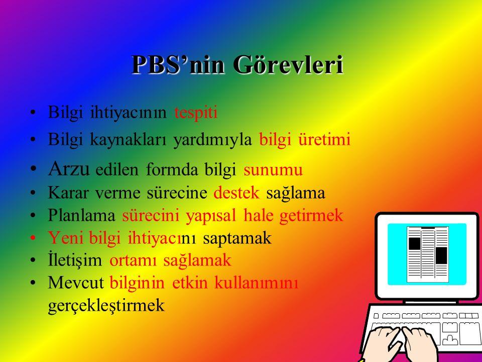 PBS'nin Görevleri Arzu edilen formda bilgi sunumu
