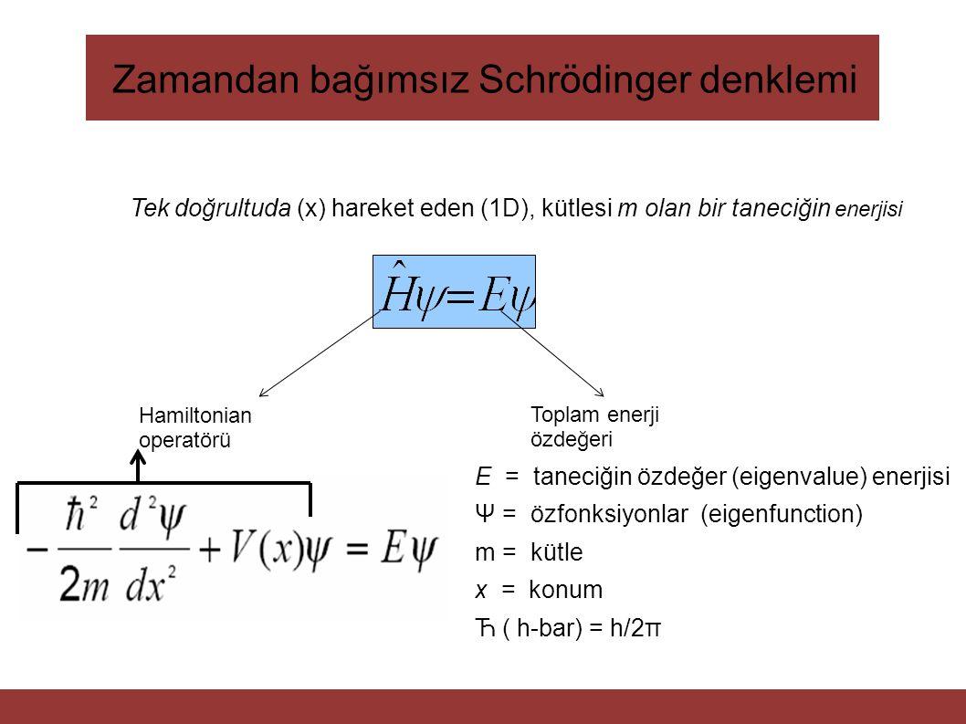 Zamandan bağımsız Schrödinger denklemi