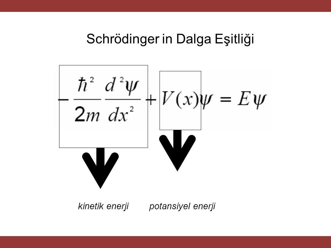 Schrödinger in Dalga Eşitliği