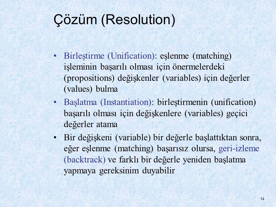 Çözüm (Resolution)