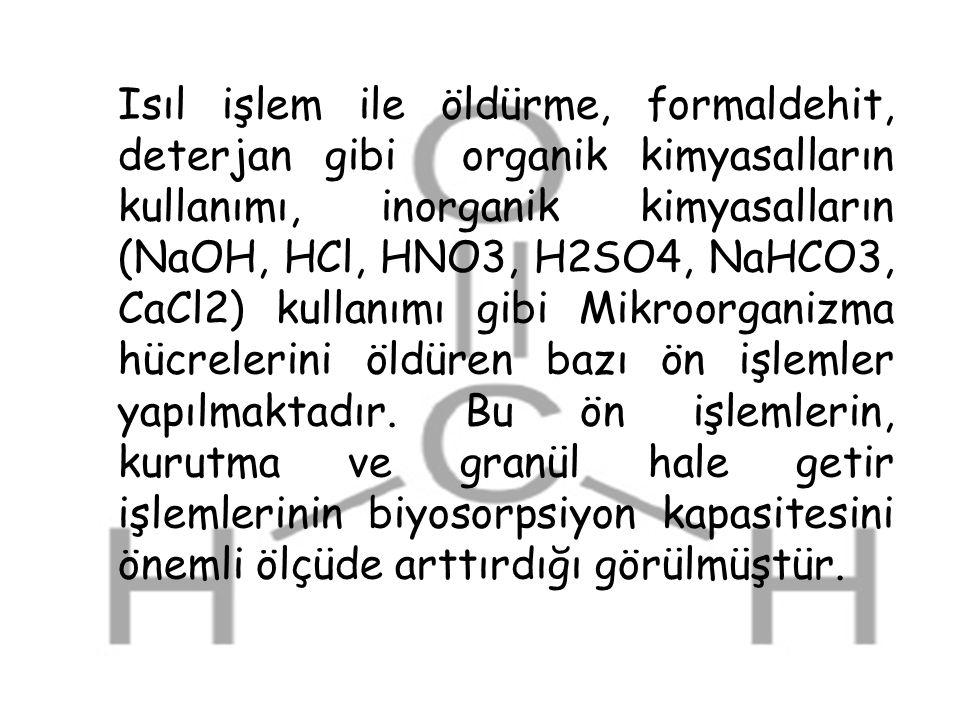 Isıl işlem ile öldürme, formaldehit, deterjan gibi organik kimyasalların kullanımı, inorganik kimyasalların (NaOH, HCl, HNO3, H2SO4, NaHCO3, CaCl2) kullanımı gibi Mikroorganizma hücrelerini öldüren bazı ön işlemler yapılmaktadır.
