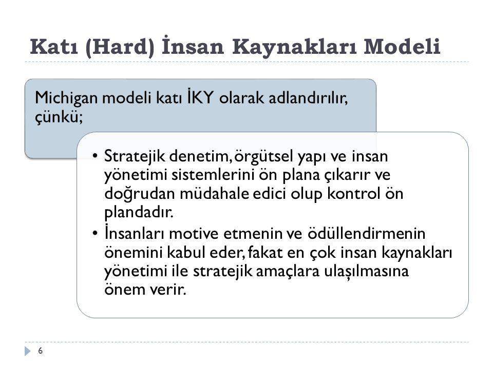 Katı (Hard) İnsan Kaynakları Modeli
