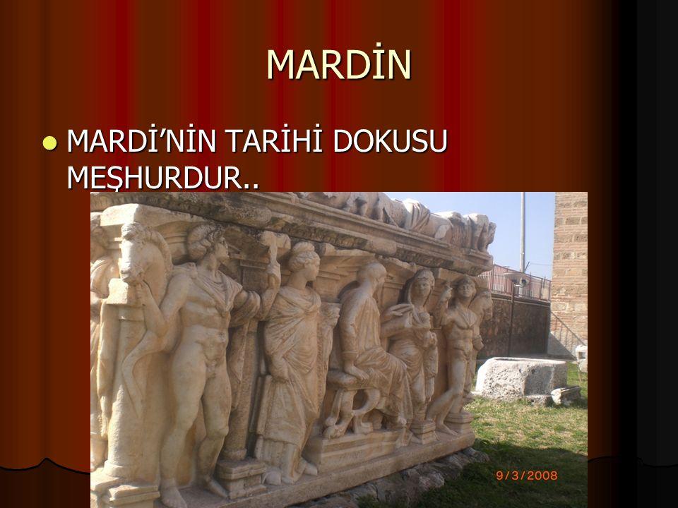 MARDİN MARDİ'NİN TARİHİ DOKUSU MEŞHURDUR..