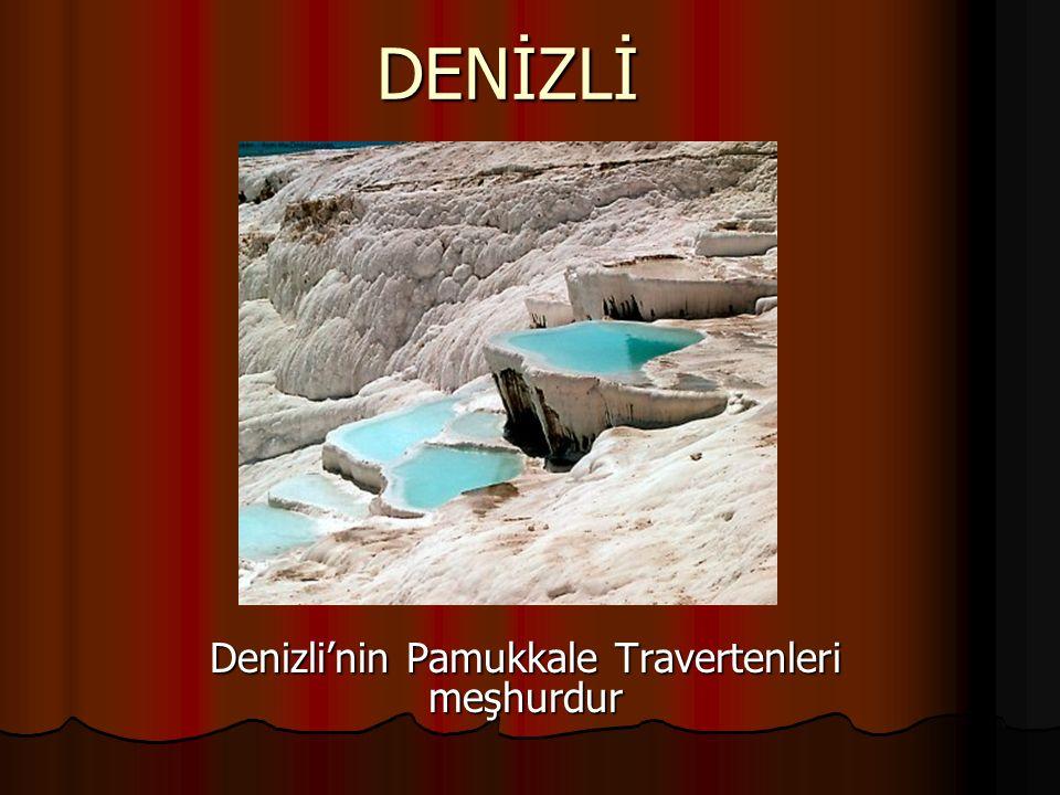 Denizli'nin Pamukkale Travertenleri meşhurdur