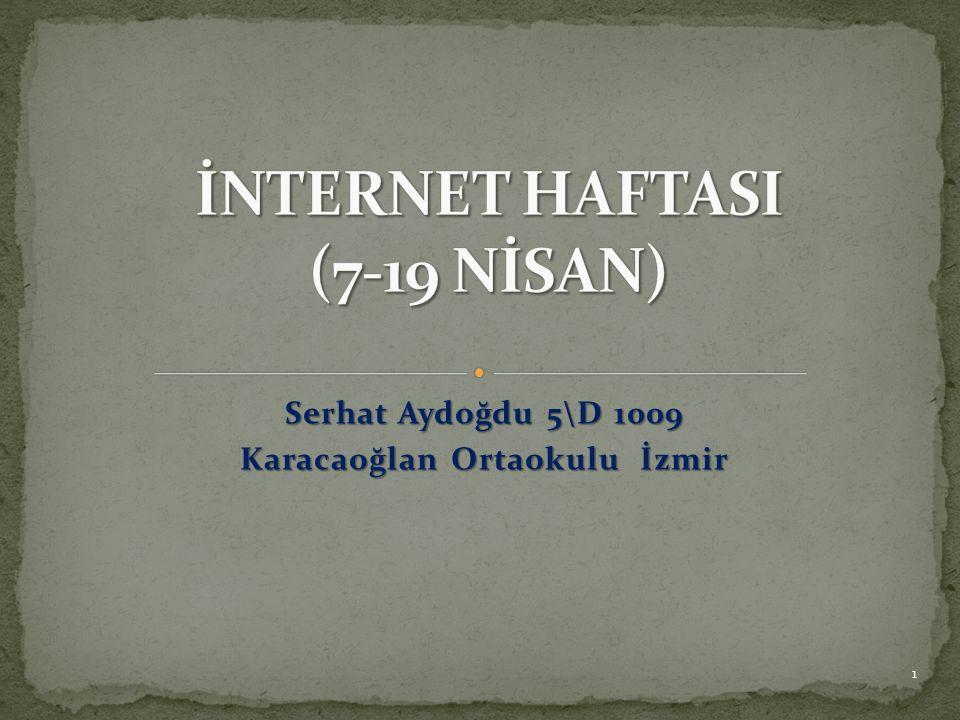 İNTERNET HAFTASI (7-19 NİSAN)
