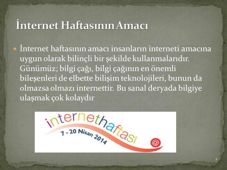 İnternet Haftasının Amacı