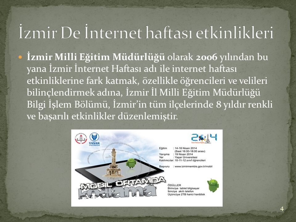 İzmir De İnternet haftası etkinlikleri