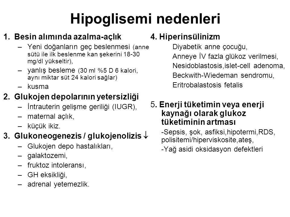Hipoglisemi nedenleri