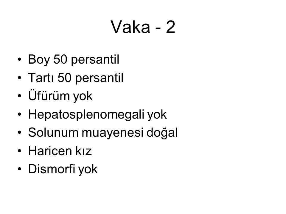 Vaka - 2 Boy 50 persantil Tartı 50 persantil Üfürüm yok