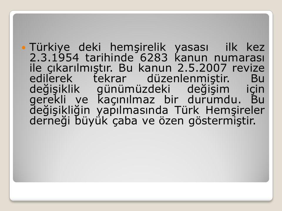Türkiye deki hemşirelik yasası ilk kez 2. 3
