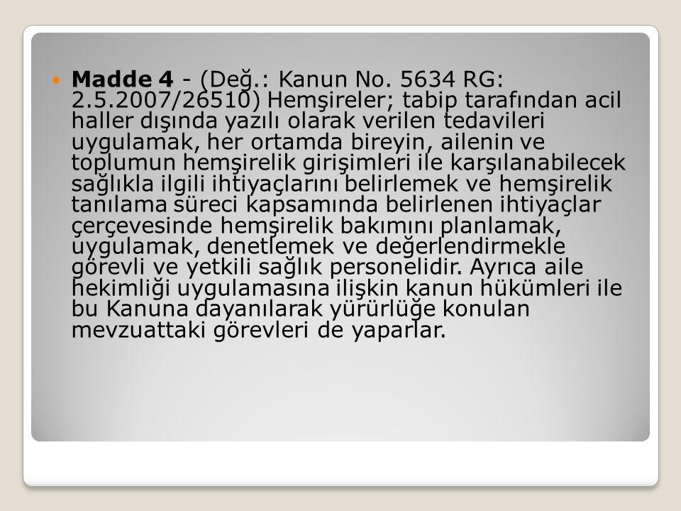 Madde 4 - (Değ. : Kanun No. 5634 RG: 2. 5