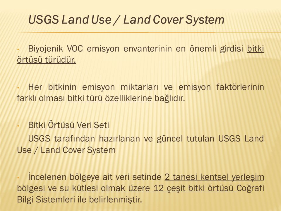 USGS Land Use / Land Cover System