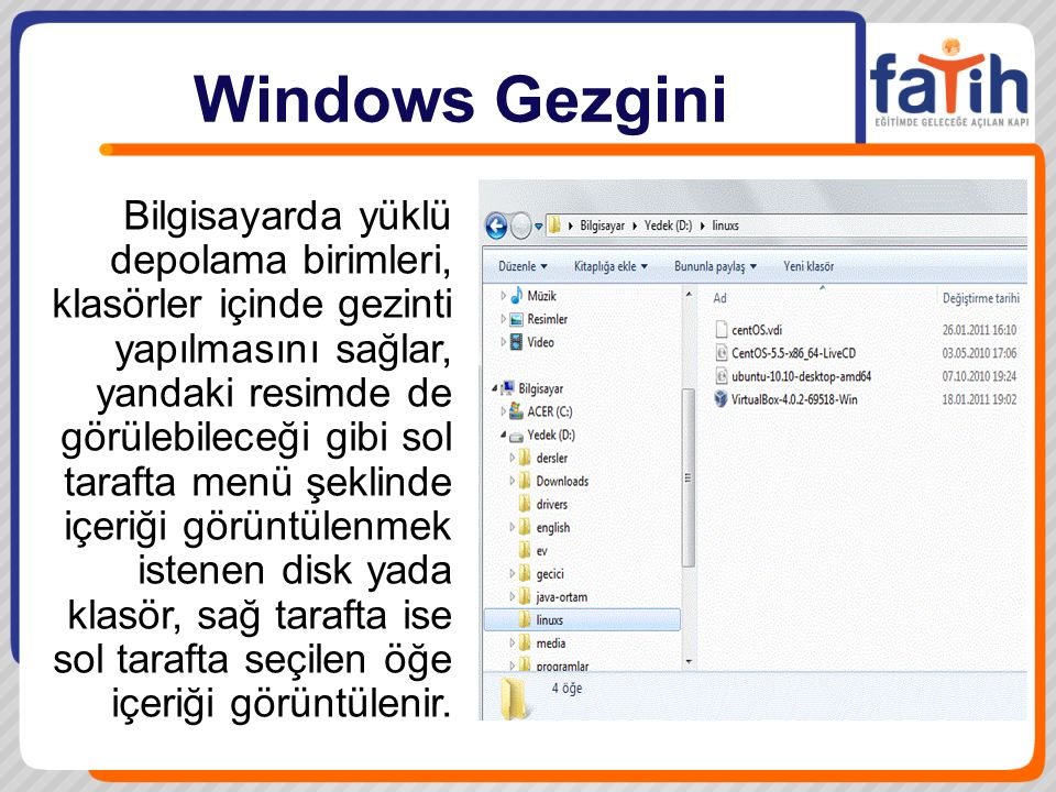 Windows Gezgini