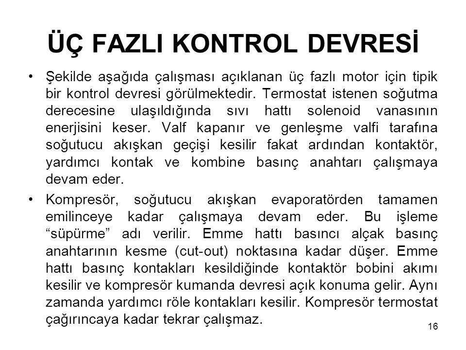 ÜÇ FAZLI KONTROL DEVRESİ