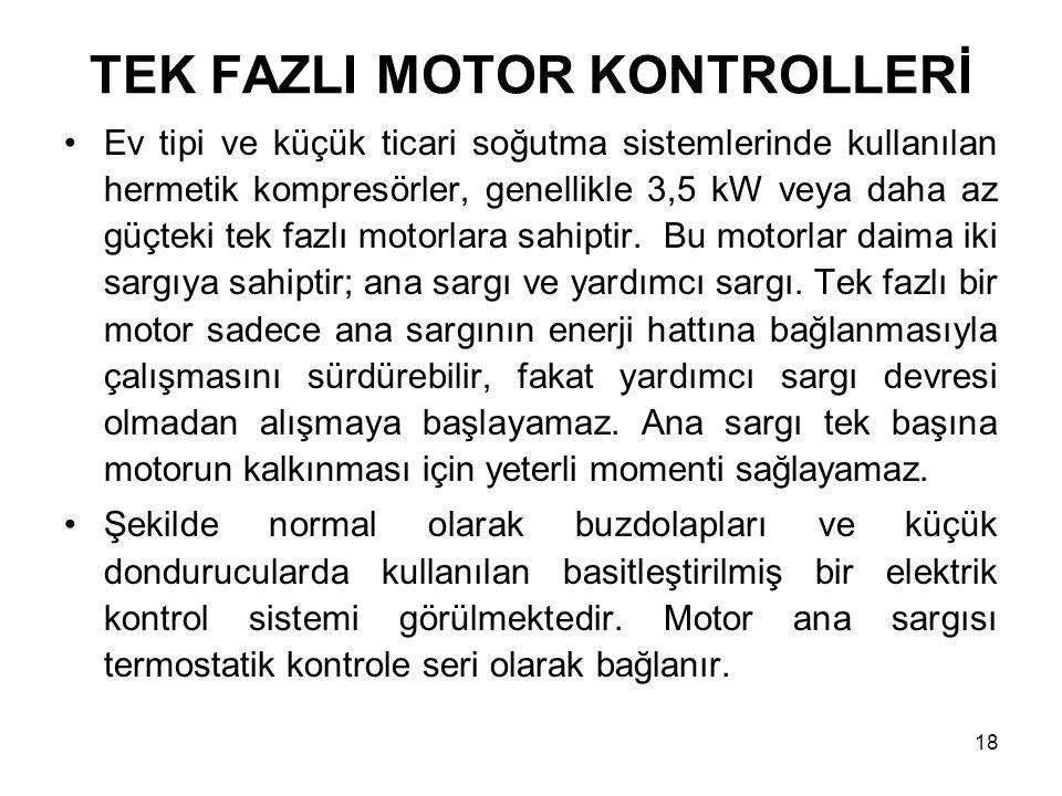 TEK FAZLI MOTOR KONTROLLERİ