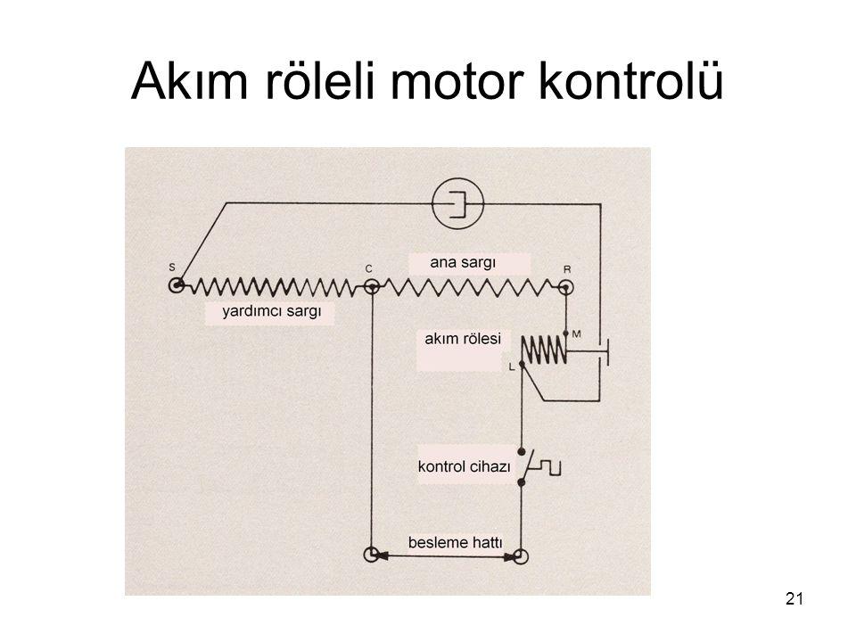 Akım röleli motor kontrolü