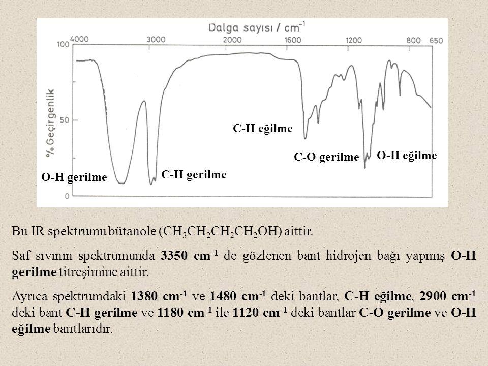 Bu IR spektrumu bütanole (CH3CH2CH2CH2OH) aittir.