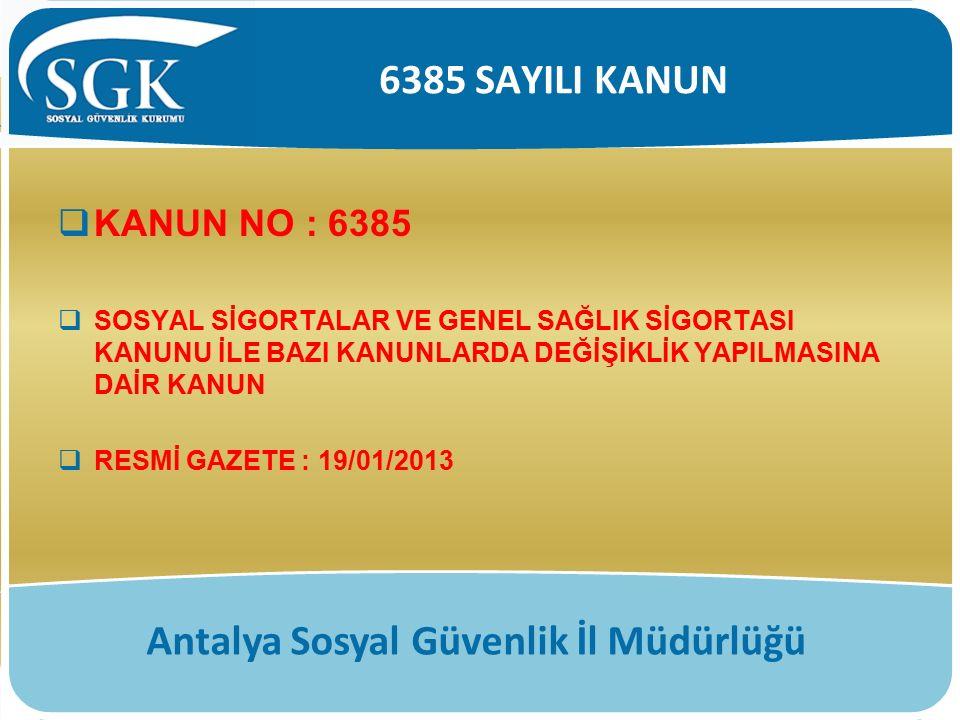 Antalya Sosyal Güvenlik İl Müdürlüğü