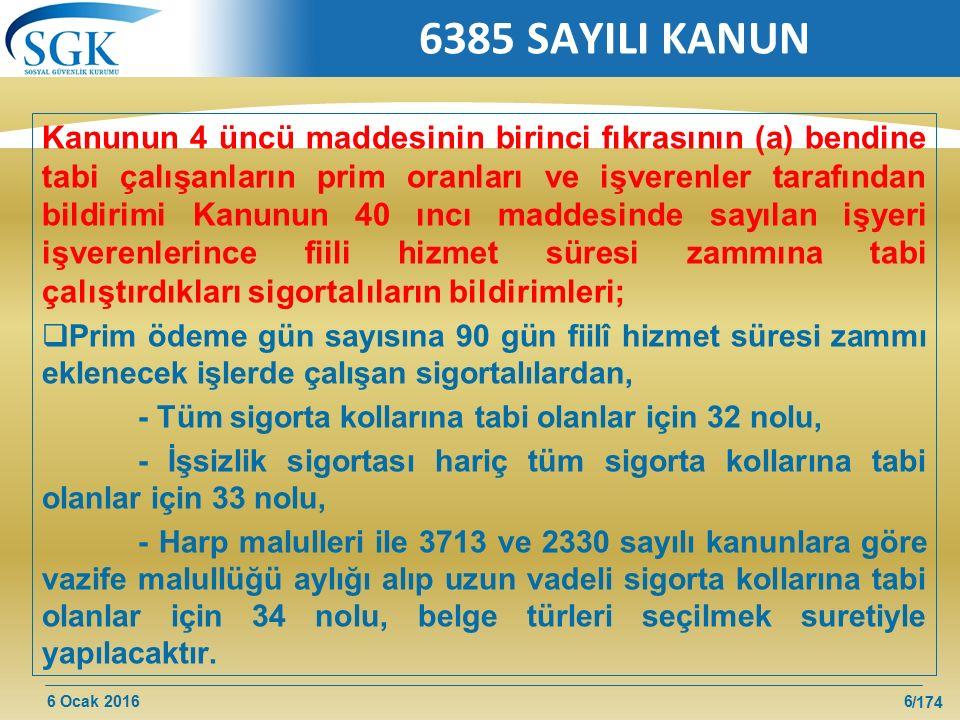 6385 SAYILI KANUN