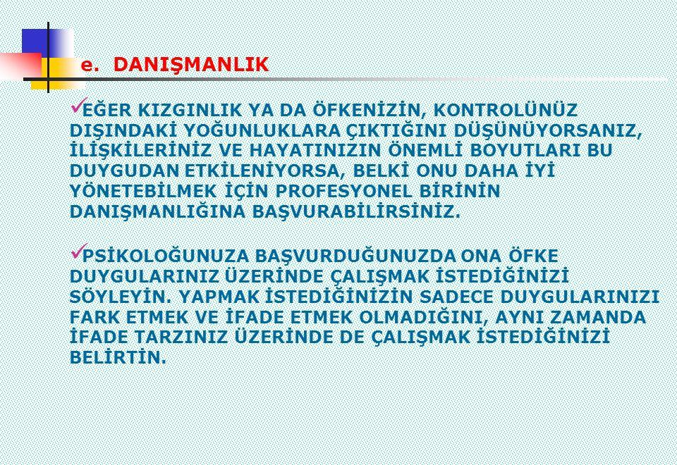 e. DANIŞMANLIK