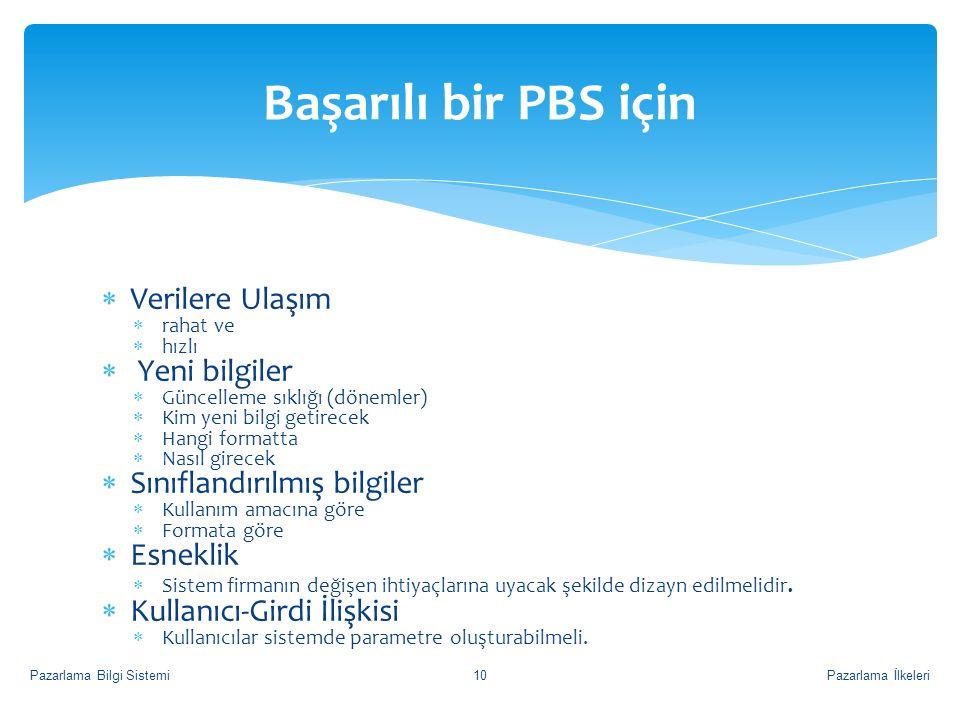 Başarılı bir PBS için Verilere Ulaşım Yeni bilgiler