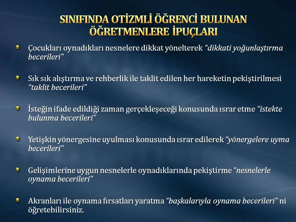 SINIFINDA OTİZMLİ ÖĞRENCİ BULUNAN ÖĞRETMENLERE İPUÇLARI