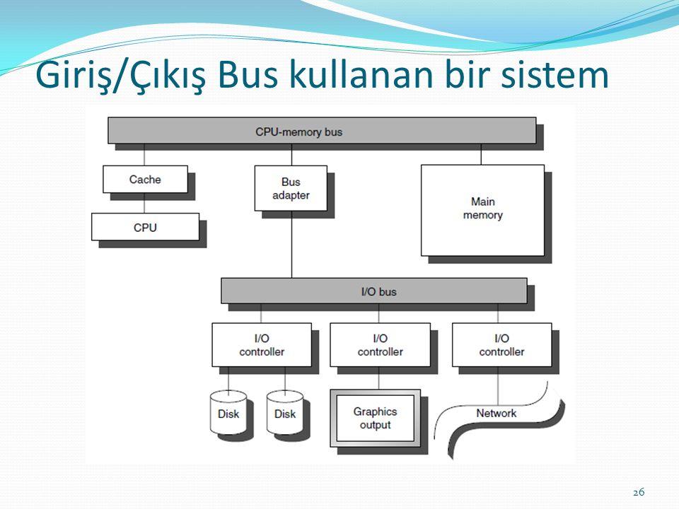 Giriş/Çıkış Bus kullanan bir sistem