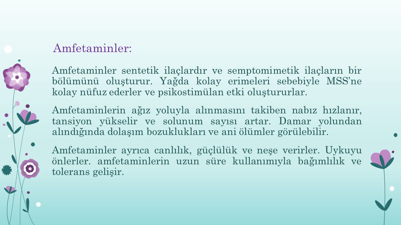 Amfetaminler:
