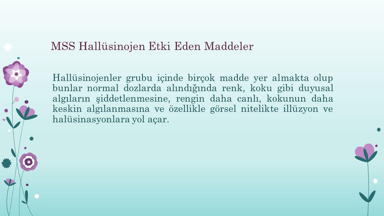 MSS Hallüsinojen Etki Eden Maddeler