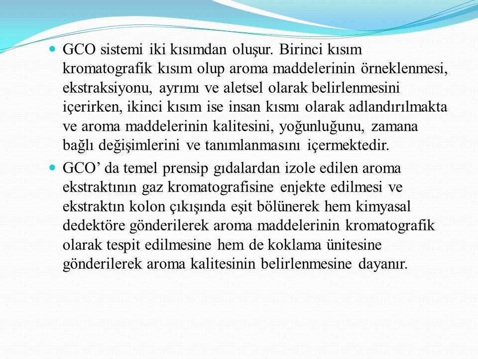 GCO sistemi iki kısımdan oluşur