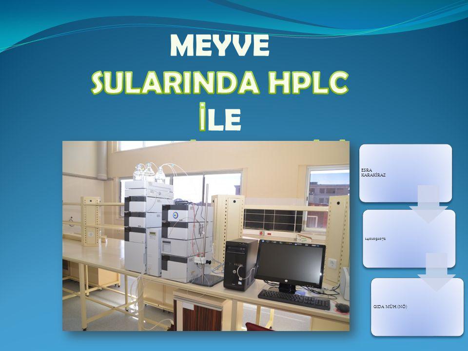 MEYVE SULARINDA HPLC İLE