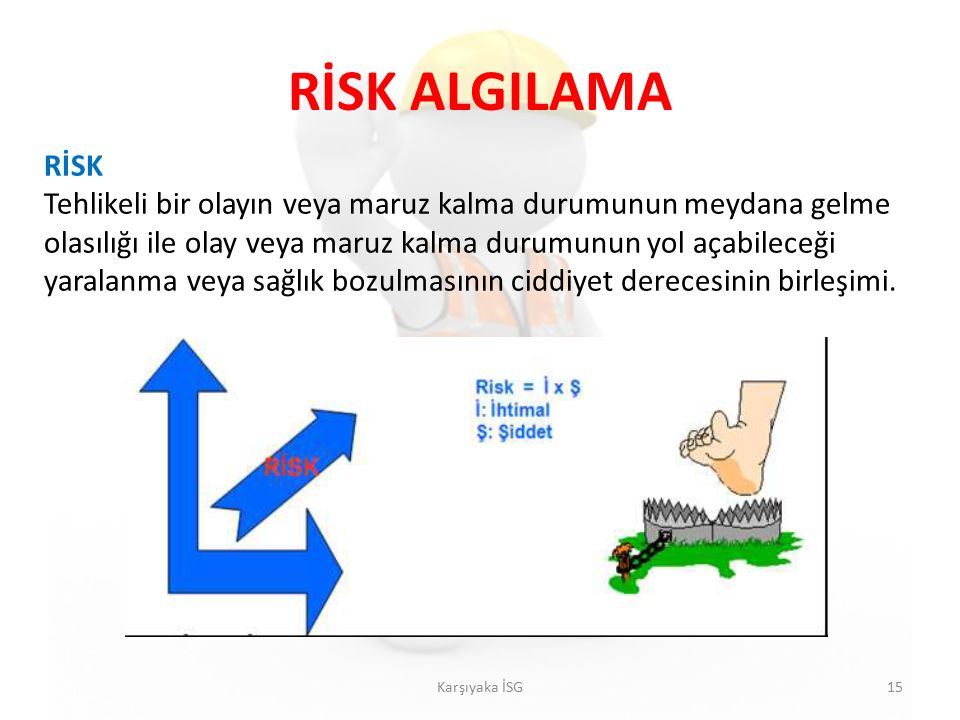 RİSK ALGILAMA RİSK.