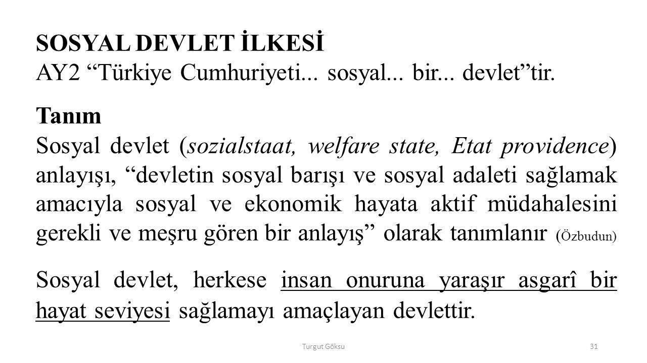 AY2 Türkiye Cumhuriyeti... sosyal... bir... devlet tir. Tanım