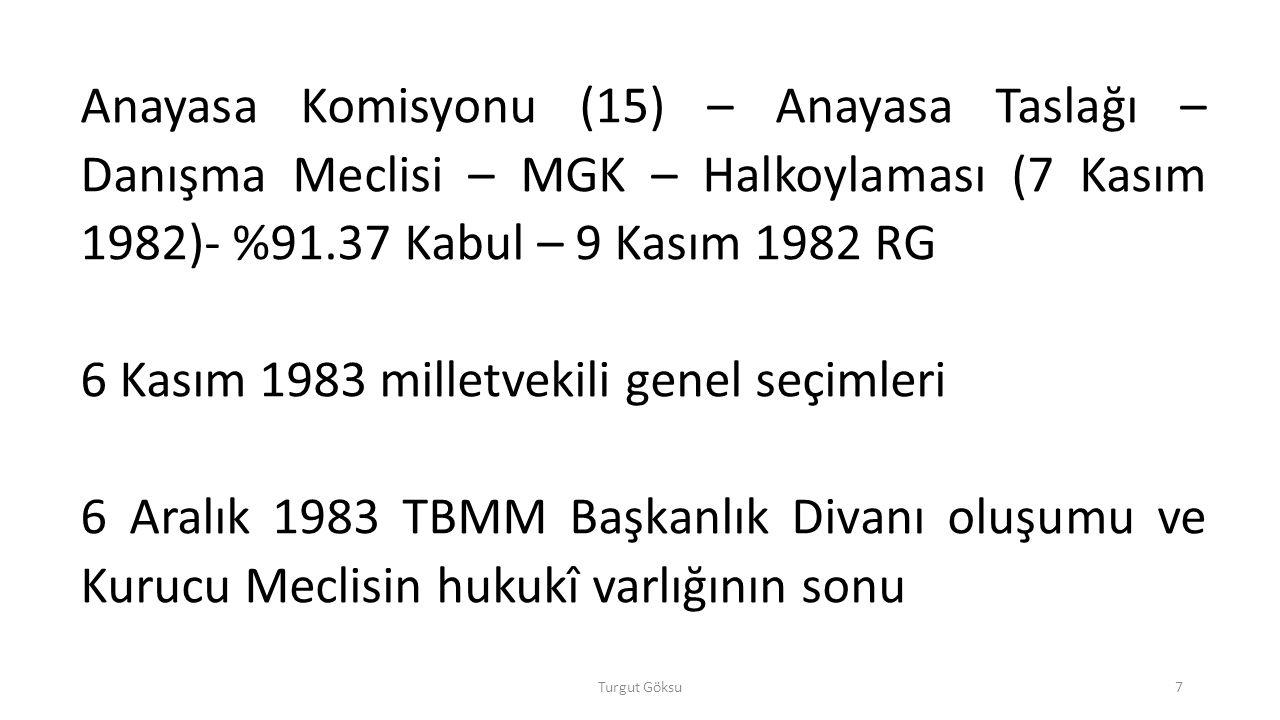 6 Kasım 1983 milletvekili genel seçimleri