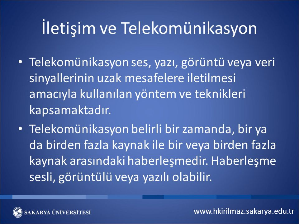 İletişim ve Telekomünikasyon