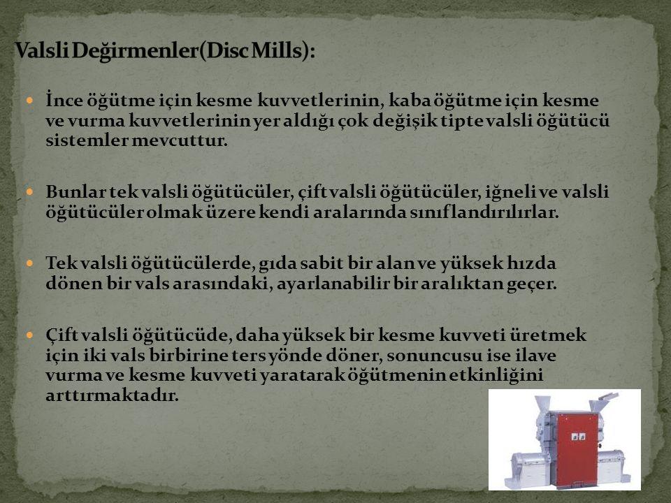 Valsli Değirmenler(Disc Mills):