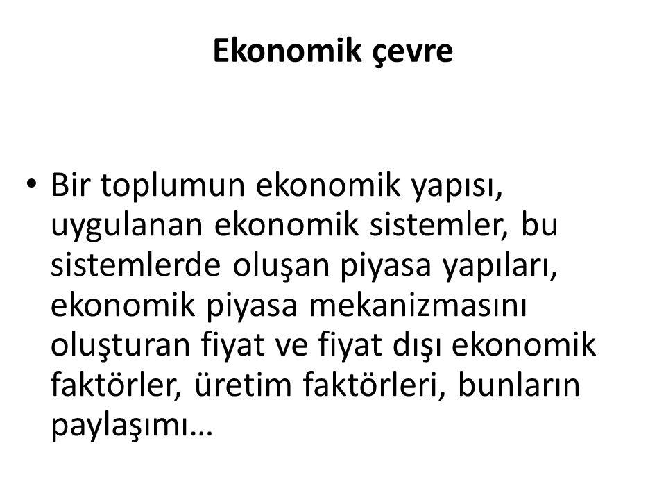 Ekonomik çevre