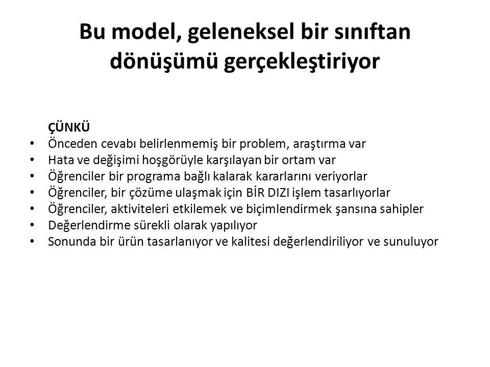 Bu model, geleneksel bir sınıftan dönüşümü gerçekleştiriyor