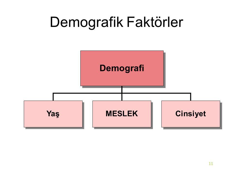 Demografik Faktörler Demografi Yaş MESLEK Cinsiyet 11 Chapter 3