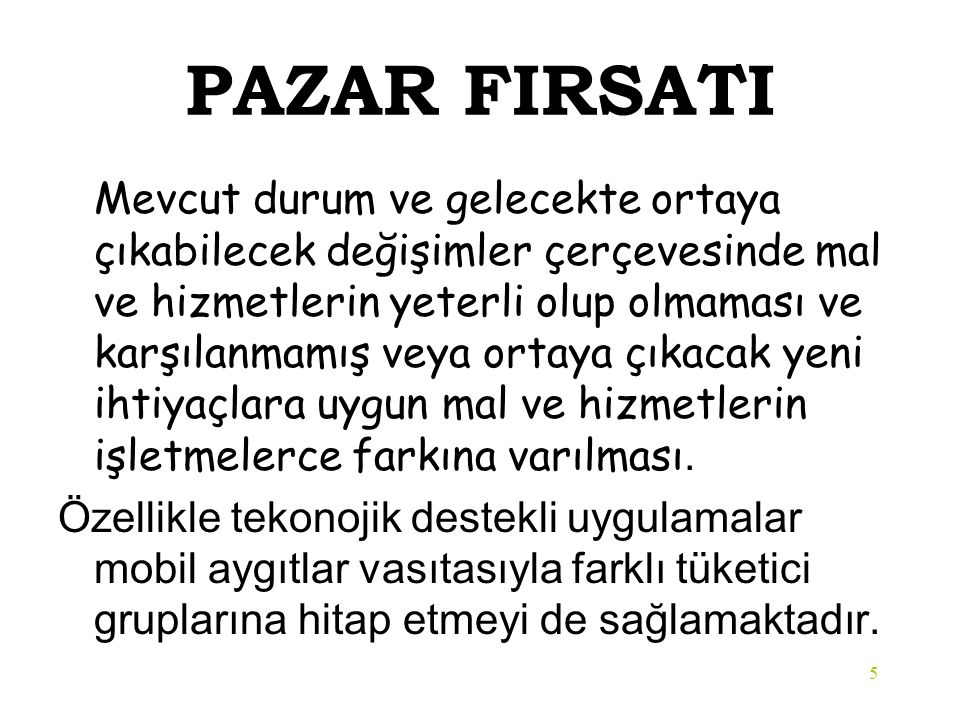 PAZAR FIRSATI